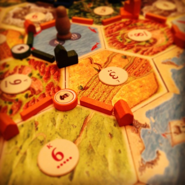 Settlers of Catan. Game time with the family!