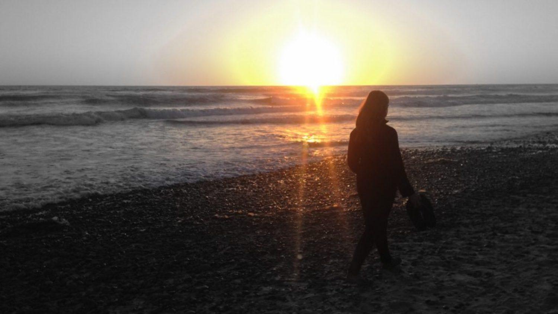 Sunset beach walk the day before Chelsea's birthday.