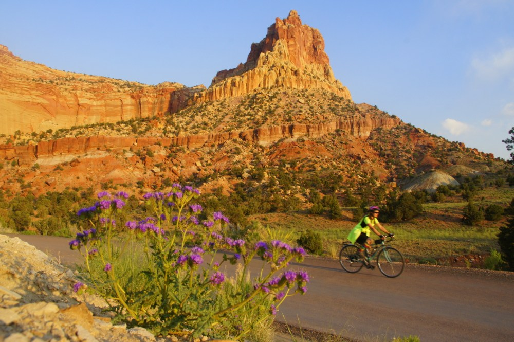 A sunset ride in Capital Reef National Park.