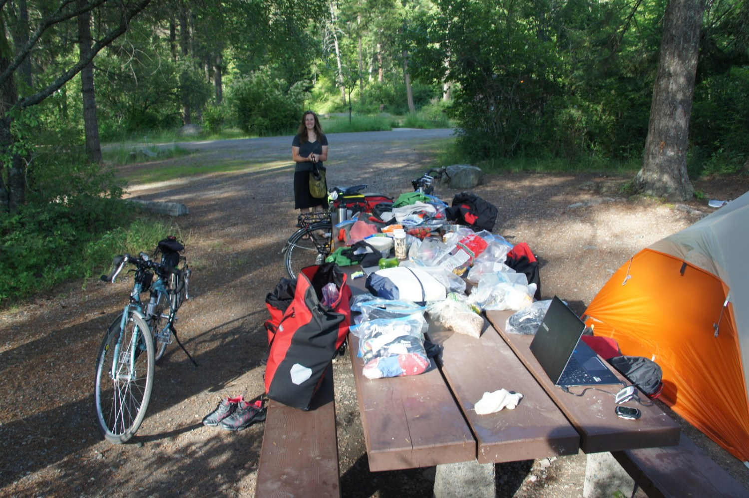 Does all this stuff really fit in six panniers? Exploding Travel Gear Inc.