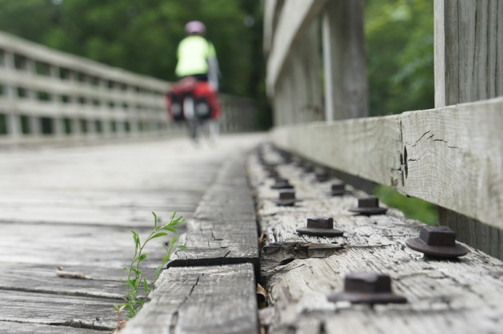A bridge on the Wabash Trace Trail.