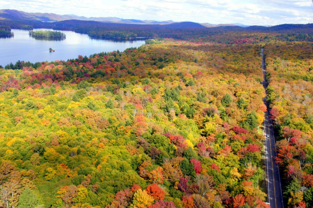 Fall colors looking good from the sky!