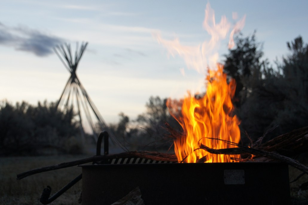 Closing out a day by the fire in Bannack State Park.