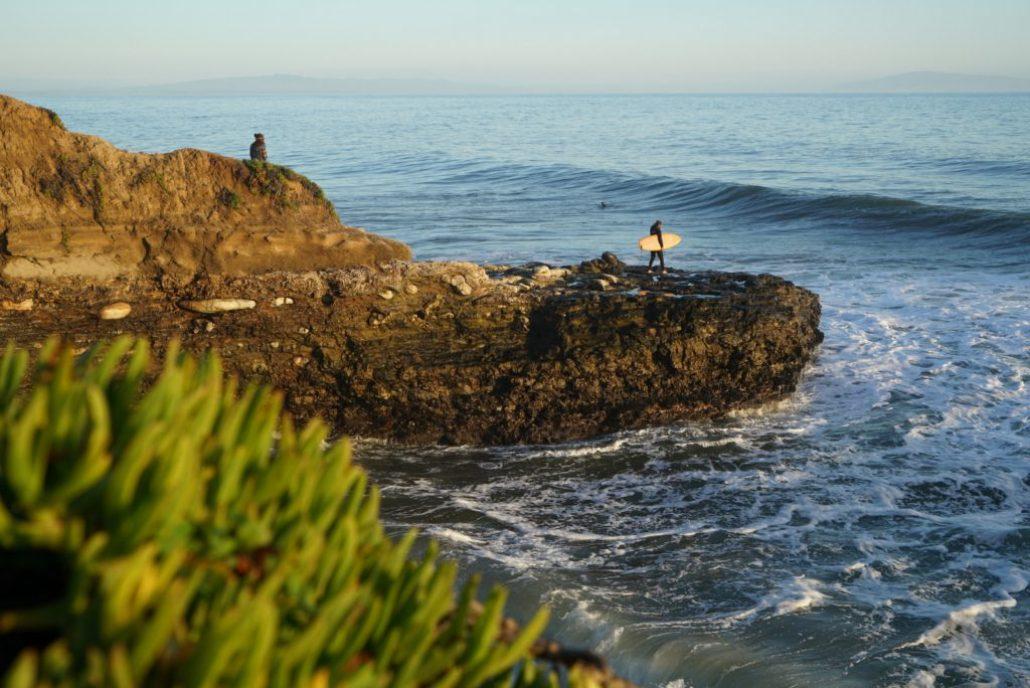 Santa Cruz California surfer