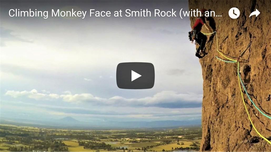 Climbing Monkey Face at Smith Rock (Video)