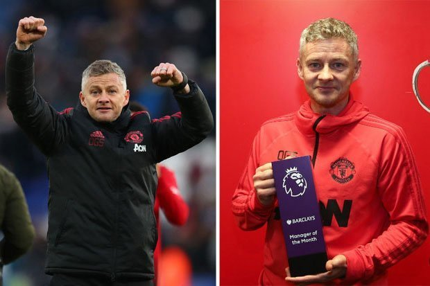 Ole Gunnar Solskjaer becomes the first Manchester United manager since Sir Alex Ferguson to win Premier League Manager of the Month