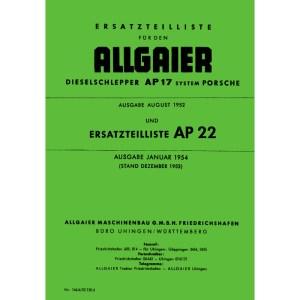 Allgaier Traktor AP 17 AP17 AP22 AP 22 Ersatzteilliste
