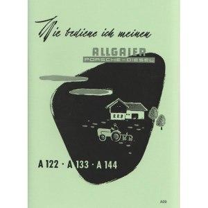 Allgaier-Traktor A122 A 122 A133 A 133 A144 A 144 A09 betriebsanleitung bedienungsanleitung