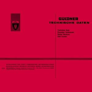 Güldner Traktoren Motoren Technische Daten