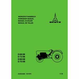 Werkstatthandbuch D6806 D7206 D6006 D7006