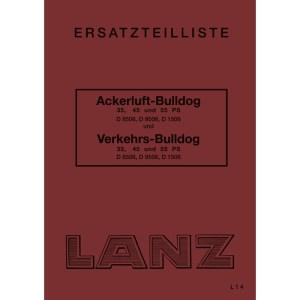 Lanz-Bulldog Ersatzteilliste-Ackerluft-Bulldog-Vekehrs-Bulldog D-8506 D-9506 D-1506 35-PS 45-PS 55-PS