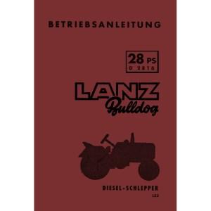 Lanz-Bulldog Betriebsanleitung Bedienungsanleitung D-2816 28-PS
