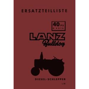 Lanz-Bulldog Ersatzteilliste D-4016 40-PS