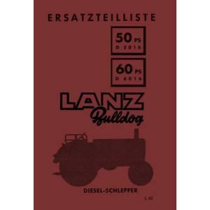 Lanz-Bulldog Ersatzteilliste D-5016 D6016 50-PS 60-PS