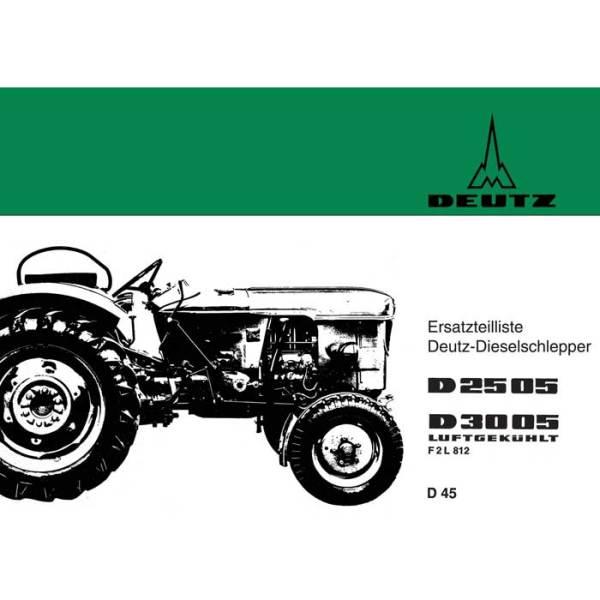 Deutz Ersatzteilliste D2505 D3005