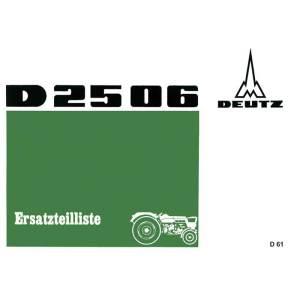 Deutz Ersatzteilliste D2506
