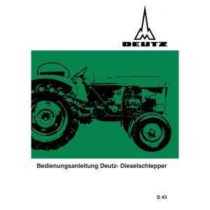 Deutz Schlepper Bedienungsanleitung Betriebsanleitung