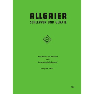 Allgaier Traktor Schlepper Geräte Handbuch