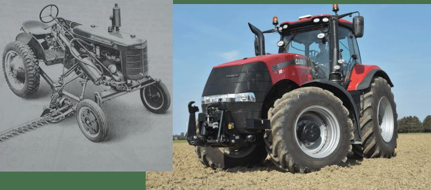 traktorpool präsentiert die Top 5 Traktorgiganten und ihre Urahnen. IH Farmall A vs Case IH Magnum 310 CVX.