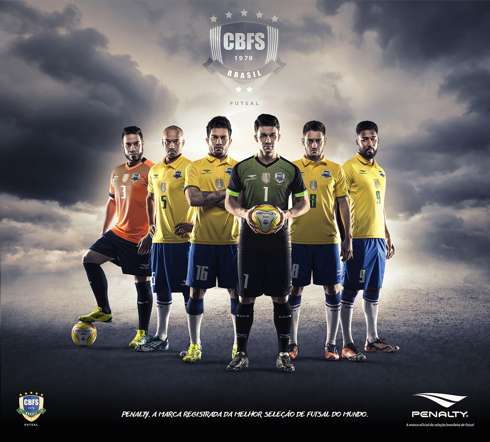 Conquistas da Seleção Brasileira de Futsal são destaque em nova campanha da  Penalty  63e63627ea449