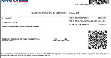 Inscripción Registro Único de Información Fiscal (RIF) (persona jurídica)