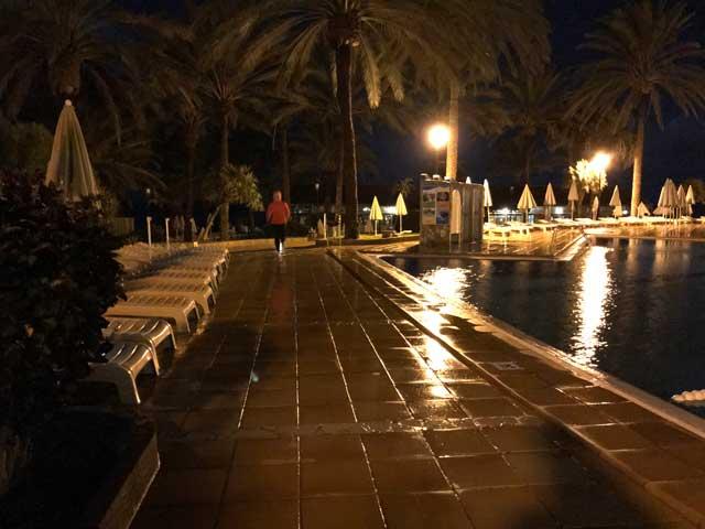 Löpning i ösregn