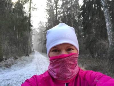 Björket snö på stigen