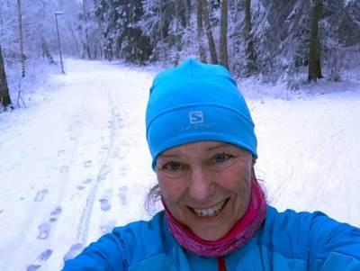 Norra Björkets löparspår igensnöade.