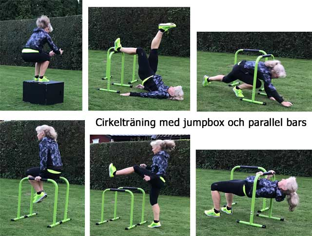 Cirkelträning med parallel bars