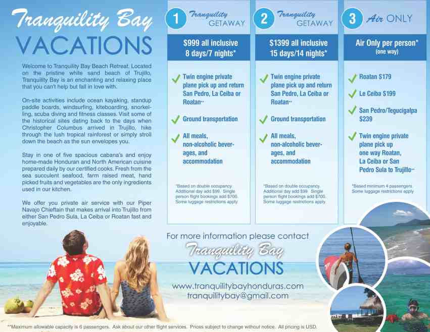 Tranquility bay  vacations