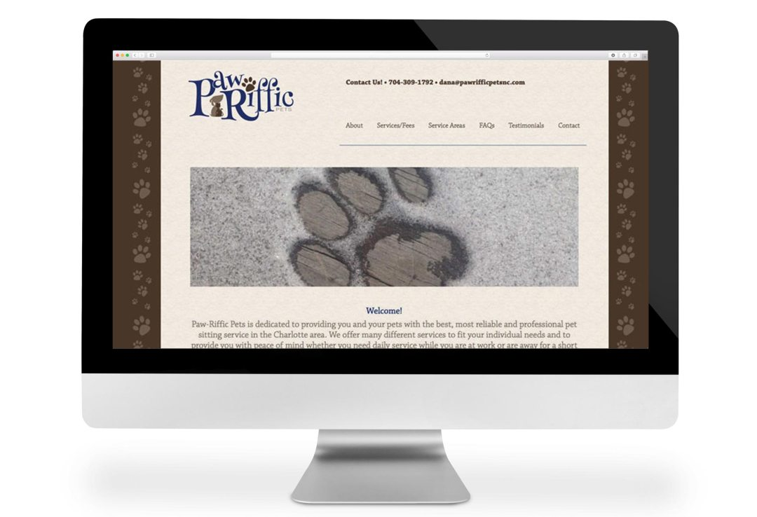 Paw-Riffic Pets website