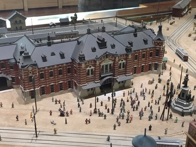 A model of Manseibashi station (located inside the Ecute shopping complex
