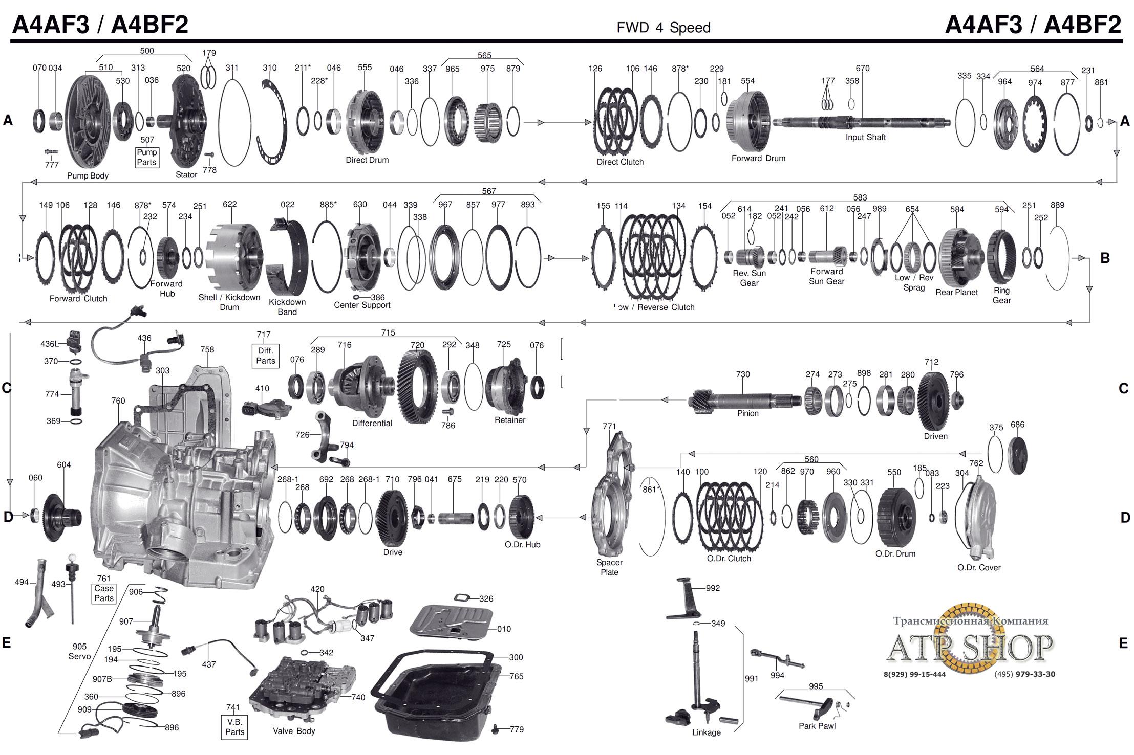 A4af3 A4bf3 Mitsubishi