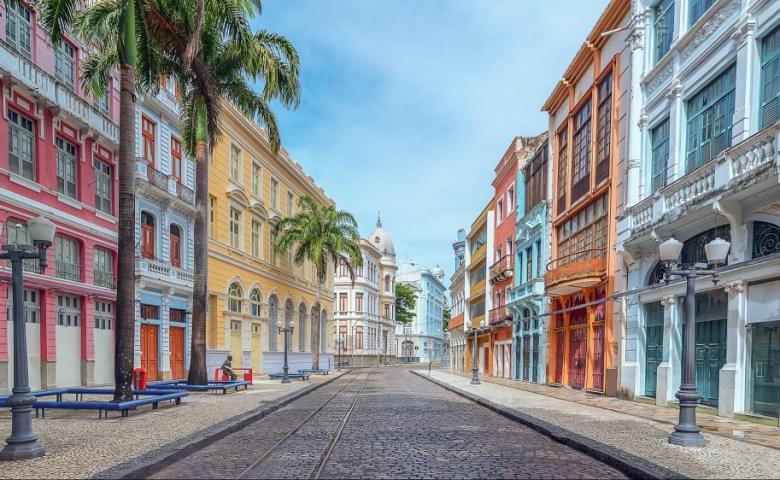Fotografia de uma rua em Recife