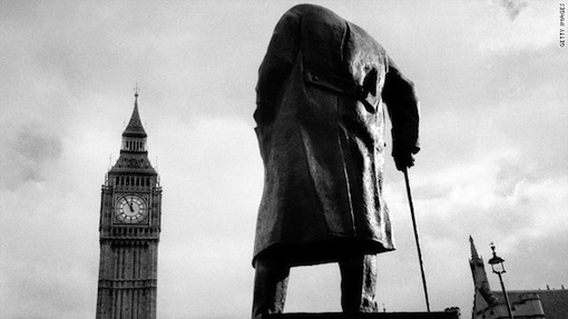 Churchill statue in London. Photo: Getty Images.