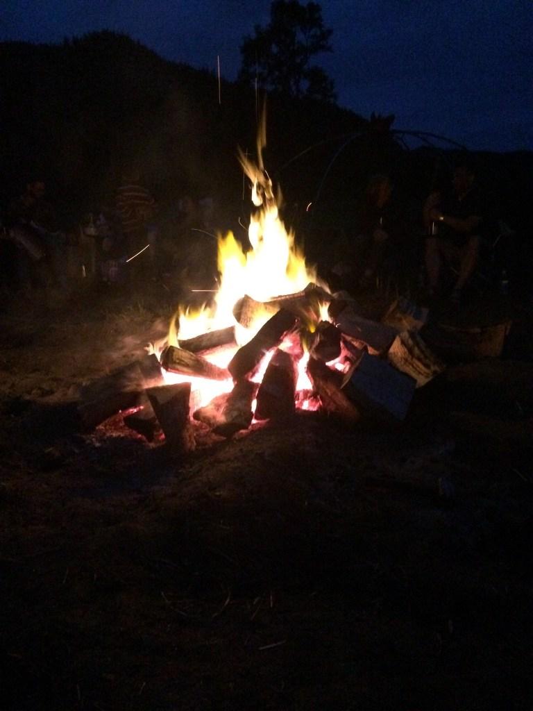 Bonfire on the farm
