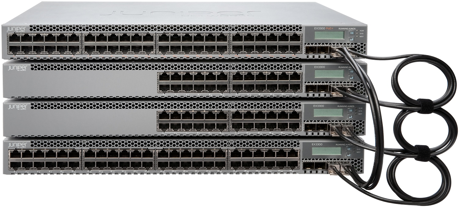 Juniper network switches install and monitored by Transcendent located in Wisconsin