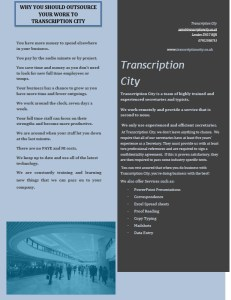 Transcription City Property Transcription Services