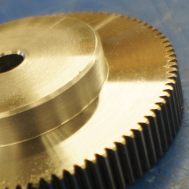 Metric Spur Gears in 30% Glass-Filled Nylon 6, 2.0 MOD, 20° P.A