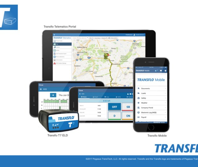 Unlike Bluetooth Reliant Units Cellular Capabilities Imbedded In The Transflo Eld T7 Continuously Record And Send Data Simplifying The Process And Saving