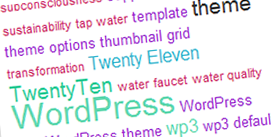tag cloud widget colored with css