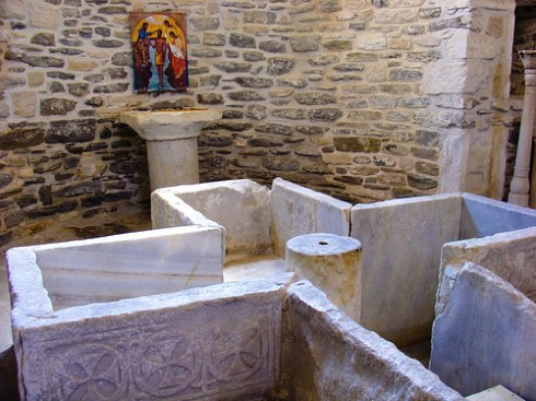 4th Century Baptismal Font, courtesy of Vangelis Valtos
