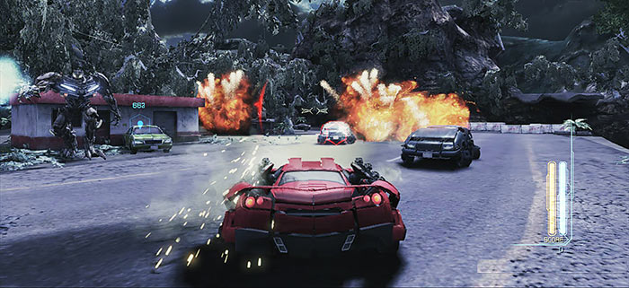 Car Transformers Dark Mirage Moon
