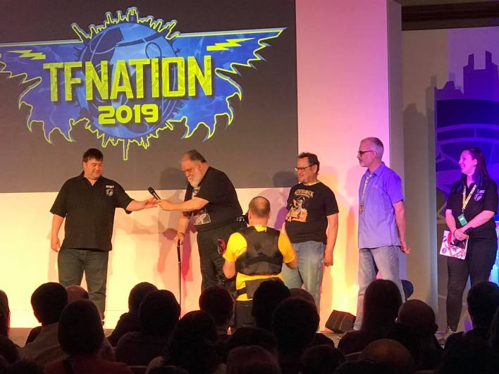 The voice actor guets at TFNation 2019