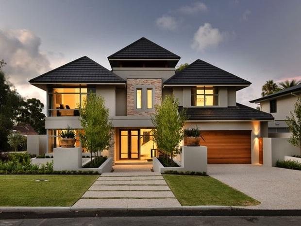 Cores de tintas para paredes externas melhores dicas for Homes with big garages for sale