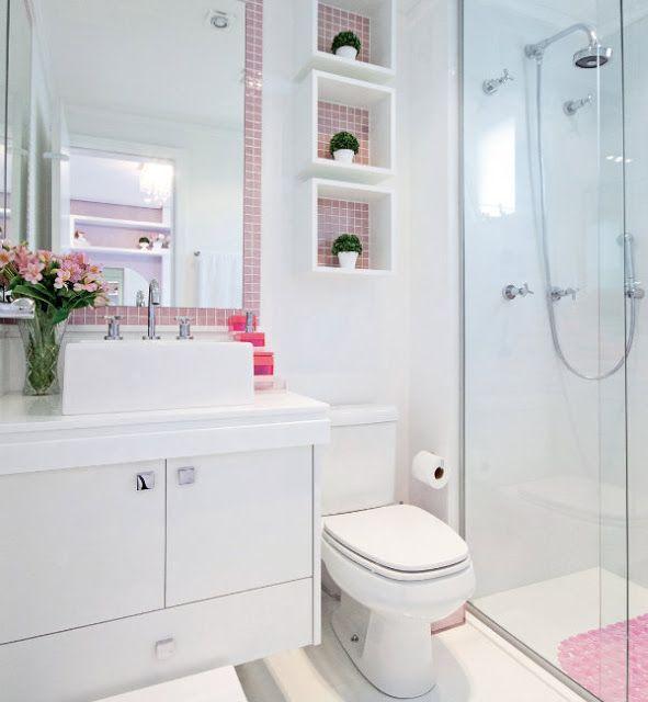 busque um visual mais clean Banheiro Pequeno Decorado