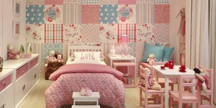 faca um patchwork na sua parede Tecidos para Decoração