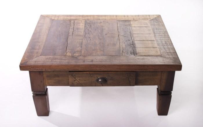 Mesa de centro de madeira de demolição – Como escolher (2) dicas de decoração fotos