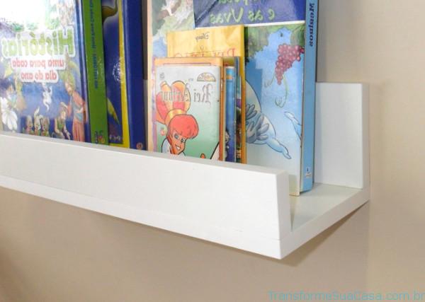 Prateleira para livros – Como escolher (11) dicas de decoração como decorar como organizar