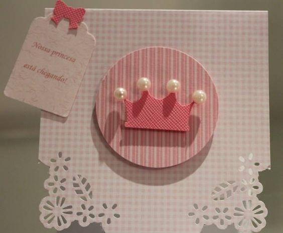 Convite de chá de bebê de princesa